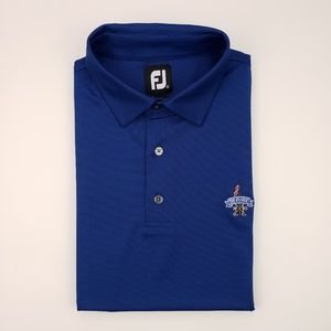 FootJoy Blue Large Polo Shirt Golf Mens Size L The